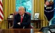 Na Casa Branca, Trump fala sobre Turquia, Coreia e Rússia em entrevista exclusiva à Reuters Foto: LEAH MILLIS / Reuters