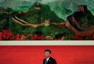 Presidente da China Xi Jinping no 7º Fórum de Cooperação China-África, na capital chinesa Foto: POOL / REUTERS