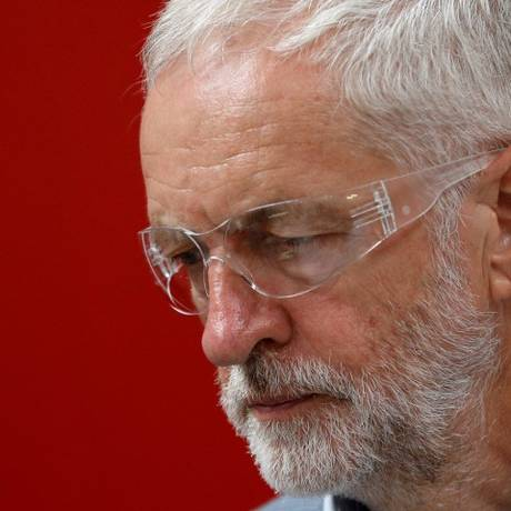 O líder do Partido Trabalhista britânico, Jeremy Corbyn, em evento no dia 14 de agosto Foto: Darren Staples / REUTERS