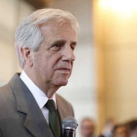 O presidente do Uruguai, Tabaré Vázquez comentou a prisão do comandante em chefe do exército uruguaio nesta quarta-feira Foto: Edilson Dantas / Agência O Globo