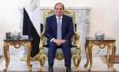 O presidente egípcio Abdel Fattah al-Sisi em um encontro no dia 27 de agosto com o general americano Joseph Votel, no palácio presidencial no Cairo Foto: HANDOUT / REUTERS