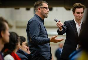 Gavin McInnes, fundador dos Proud Boys, grupo de extrema direita que cresce nos EUA Foto: CHRISTOPHER LEE / NYT