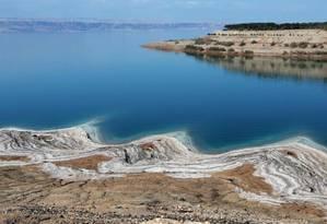 A região do Mar Morto é frequentemente atingida por cheias súbitas Foto: Ahmad Abdo / AFP