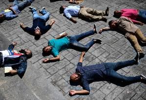 Ativistas protestam contra prisão de opositores políticos na Venezuela Foto: RONALDO SCHEMIDT/25-10-2018 / AFP