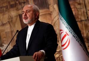 Segundo chanceler iraniano Mohammad Javad Zari, Teerã cumpriu acordo nuclear do qual os EUA se retiraram Foto: MURAD SEZER / REUTERS
