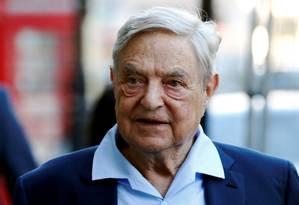 O bilionário George Soros, fundador da Open Society Foundation, que investe em programas em favor da democracia pelo mundo Foto: Luke MacGregor/20-6-2016 / REUTERS