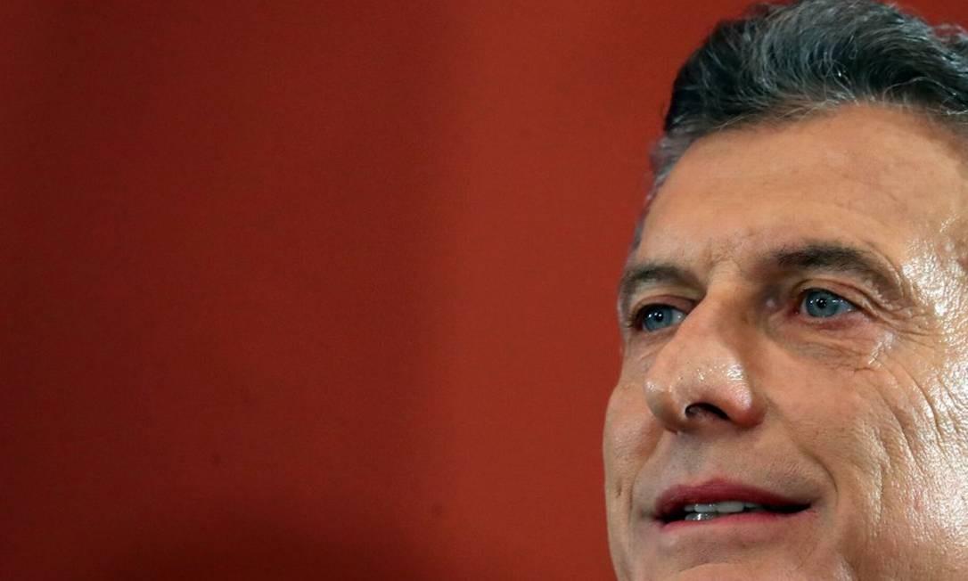 O presidente argentino Mauricio Macri é o primeiro chefe de Estado em visita oficial a Bolsonaro Foto: MARCOS BRINDICCI / REUTERS