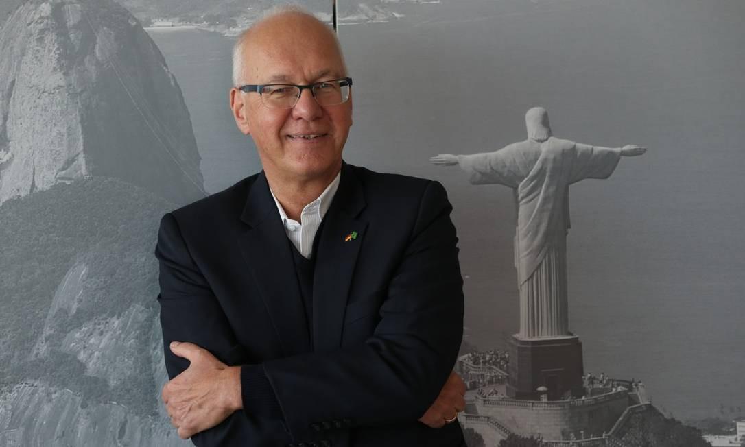 O embaixador alemão no Brasil Georg Witschel diz ver com preocupação a deterioração do multilateralismo no mundo Foto: Pedro Teixeira / Agência O Globo
