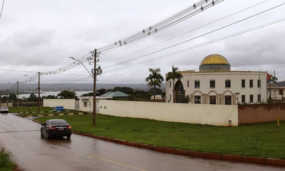 Embaixada da Palestina, no Setor de Embaixadas Norte, Brasília Foto: Jorge William / Agência O Globo