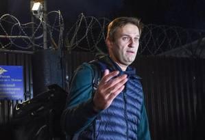 Alexei Navalny foi impedido de deixar a Rússia Foto: Vasily Maximov/AFP
