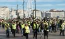 Protesto dos coletes amarelos no sábado, 1 de dezembro, em Marselha Foto: CLEMENT MAHOUDEAU / AFP