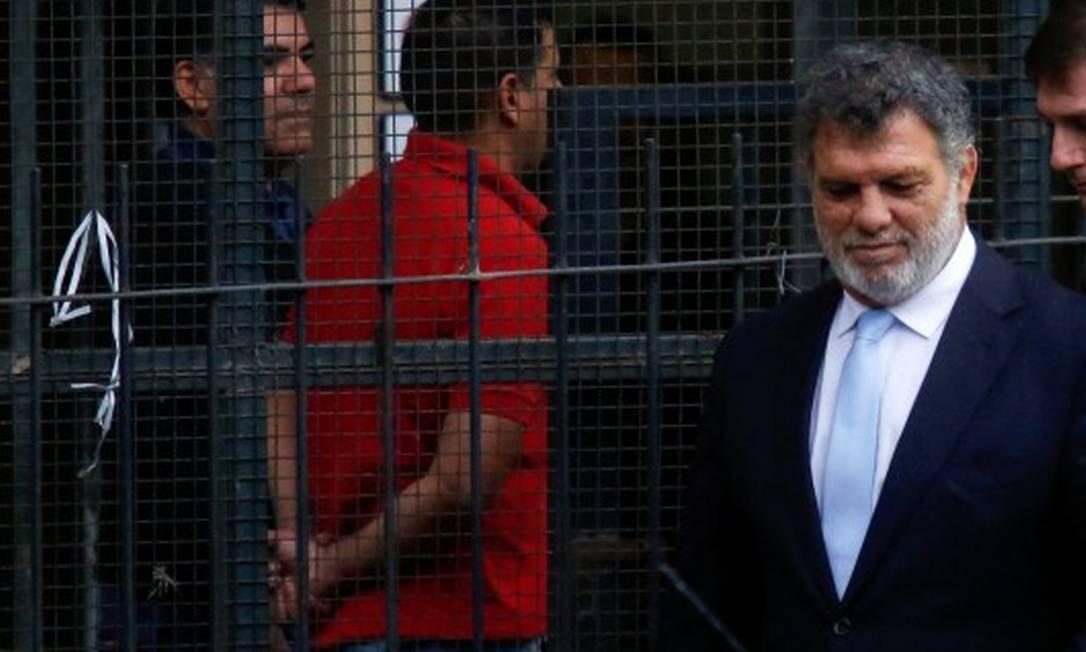 Gianfranco Macri, irmão do presidente da Argentina Mauricio Macri, deixa o tribunal federal em Buenos Aires onde prestou depoimento Foto: STRINGER / REUTERS