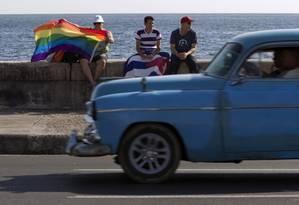Cubanos em Havana, no Dia Internacional de Combate à Homofobia, em 17 de maio Foto: Franklin Reyes / Agência O Globo