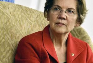 A senadora democrata Elizabeth Warren Foto: T.J. KIRKPATRICK/NYT