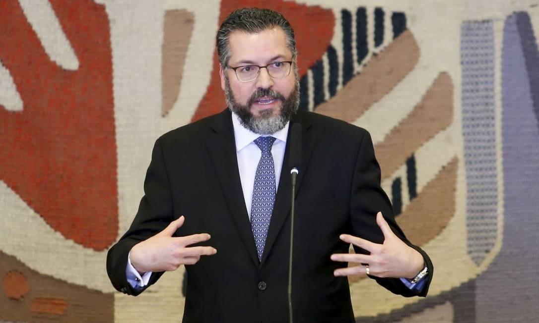 O novo ministro das Relações Exteriores, Ernesto Araújo, durante solenidade de transmissão de cargo, no Palácio Itamaraty Foto: Fabio Rodrigues Pozzebom/Agência Brasil
