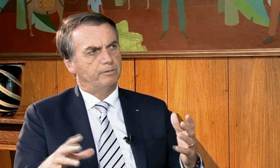 """O presidente Jair Bolsonaro em sua primeira entrevista após a posse: """"Nós não queremos aqui ter um superpoder na América do Sul, mas devemos ter, ao meu entender, a supremacia"""" Foto: Picasa / Agência O Globo"""