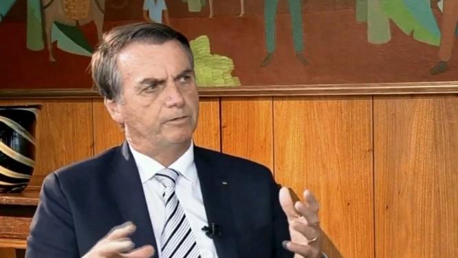 O presidente Jair Bolsonaro em sua primeira entrevista após a posse: