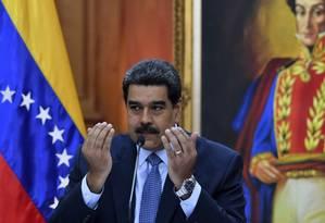 O presidente venezuelano, Nicolás Maduro: novo mandato a partir desta quinta-feira Foto: Yuri Cortez/AFP