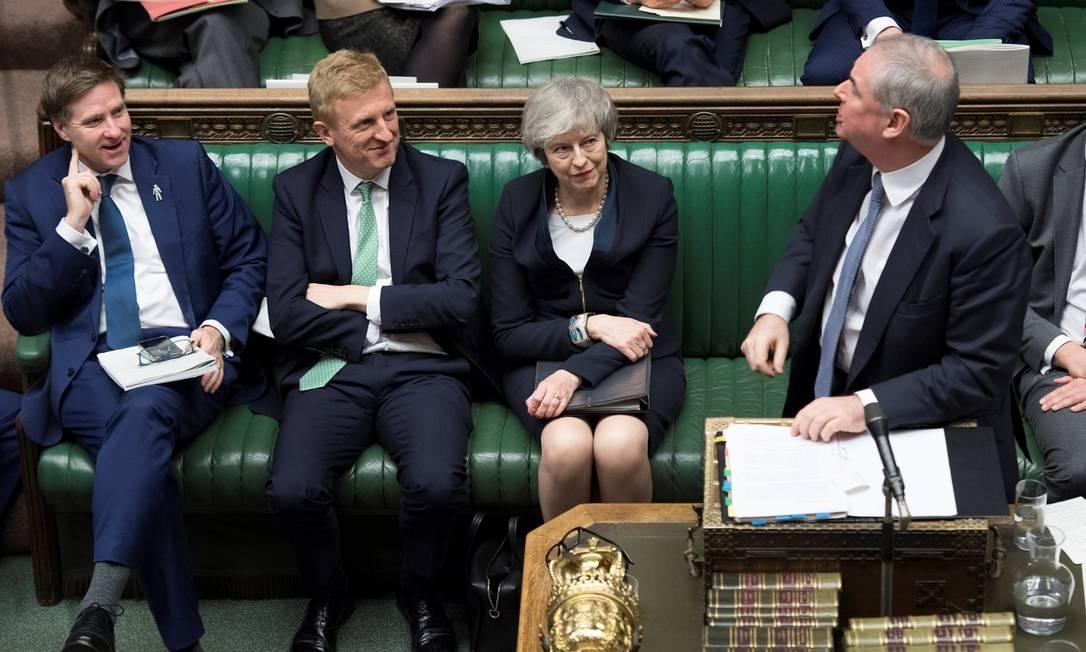 Mesmo alguns membros do Partido Conservador de May deixaram claro que não concordavam com os termos propostos; críticas de aliados deixam a premier na corda bamba Foto: HANDOUT / REUTERS
