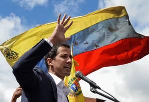 O presidente da Assembleia Nacional e autoproclamado presidente interino da Venezuela, Juan Guaidó Foto: FEDERICO PARRA / AFP