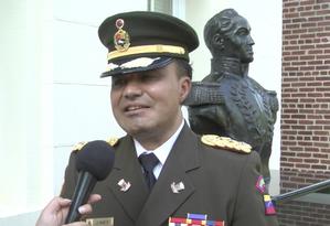 O adido militar da Venezuela em Washington José Luis Silva Silva Foto: Reprodução do Youtube
