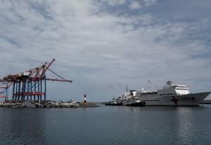 Navio chinês Arca da Paz ancorado em La Guaira, na Venezuela, no dia 22 de setembro de 2018 Foto: Stringer / Reuters -22-09-18