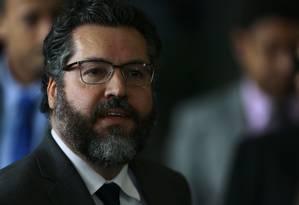 O ministro das Relações Exteriores, Ernesto Araújo Foto: Jorge William / Agência O Globo