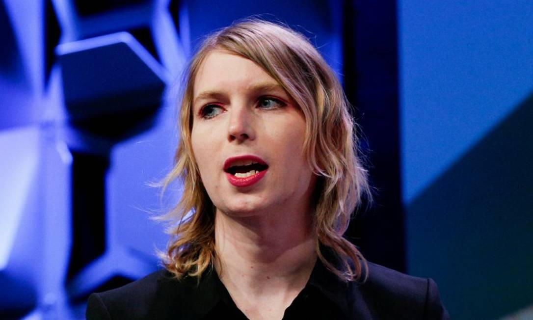 Chelsea Manning em palestra no festival South by Southwest em Austin, no Texas Foto: Suzanne Cordeiro / REUTERS 13-03-2018