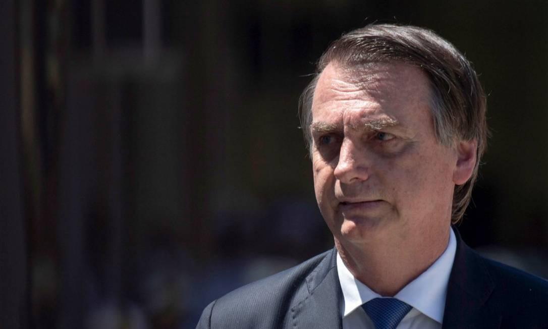 Presidente não consegue ler textos em teleprompter Foto: MAURO PIMENTEL / AFP 07-03-19