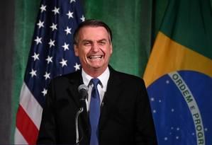 Bolsonaro afirmou em Davos que seu governo buscará 'integrar o Brasil ao mundo, por meio da incorporação das melhores práticas internacionais, como aquelas que são adotadas e promovidas pela OCDE' Foto: ERIN SCOTT / REUTERS 18-03-19