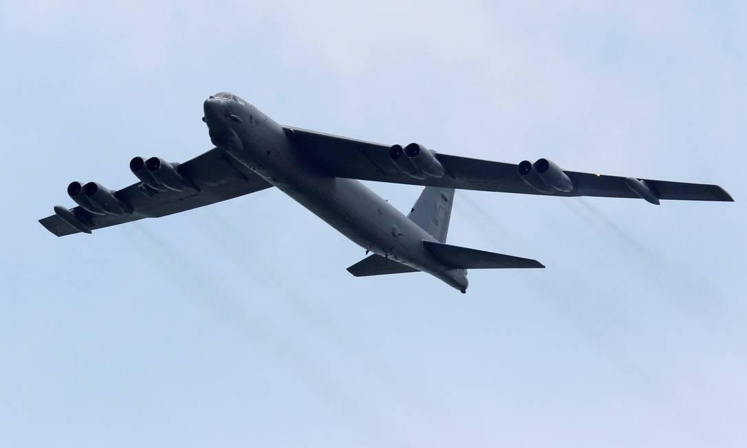 Um bombardeiro estratégico B-52, fabricado pela Boeing Foto: Tim Chong / REUTERS/14-2-2012