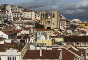 Lisboa vista do Arco da Rua Augusta Foto: Daniel Rodrigues / The New York Times