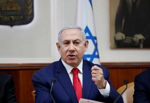 Benjamin Netanyahu, que caminha para o quinto mandato Foto: Ronen Zvulun / REUTERS/14-4-2019