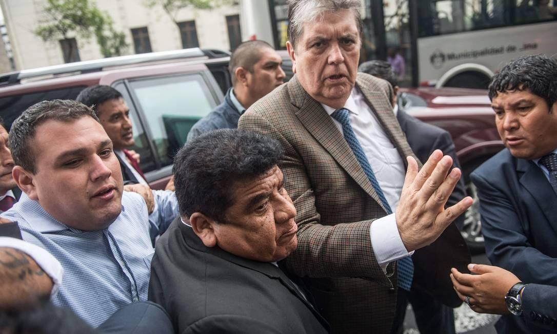 García, que tentou pedir asilo ao Uruguai, chega à Promotoria para depor em novembro de 2018 Foto: ERNESTO BENAVIDES / AFP