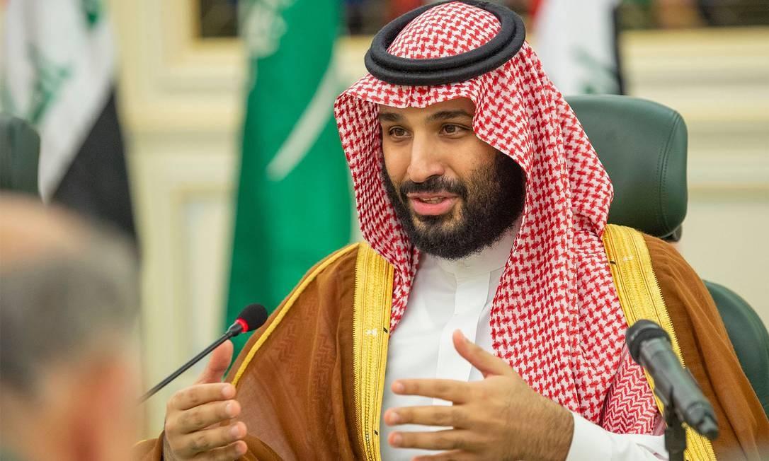 O príncipe herdeiro saudita Mohammed bin Salman, que prometeu reformas, mas mantém a repressão Foto: BANDAR AL-JALOUD / AFP/17-4-2019