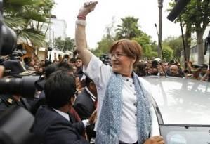 A ex-prefeita de Lima Susana Villarán reconheceu ter recebido aportes da Odebrecht e da OAS Foto: AFP