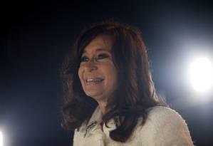 A ex-presidente argentina Cristina Kirchner no lançamento de seu livro Sinceramente em Buenos Aires Foto: AGUSTIN MARCARIAN / REUTERS 9-5-19