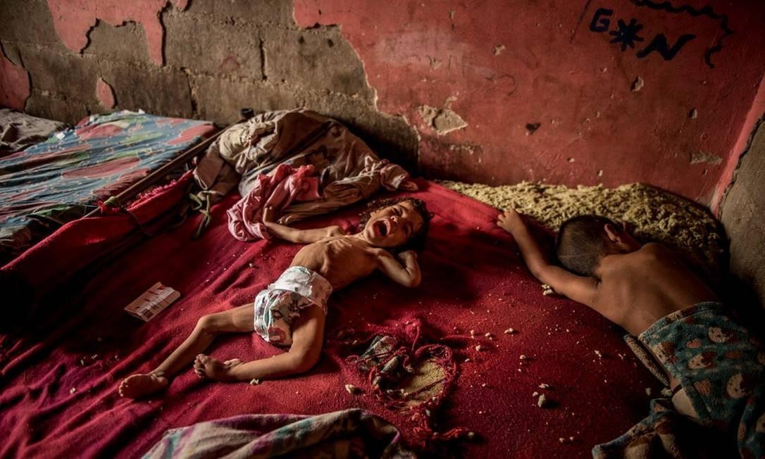 Foto de Anailin Nava que chamou atenção dos leitores devido a severa desnutrição Foto: Meredith Kohut / The New York Times