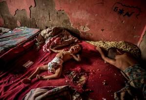Foto a menina venezuelana Anailin Nava, de 2 anos, que chamou atenção dos leitores devido à severa desnutrição Foto: Meredith Kohut / The New York Times