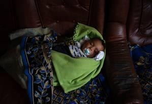 Aos 4 meses, Constantin foi separado de sua família graças à medida de Donald Trump Foto: Todd Heisler / New York Times