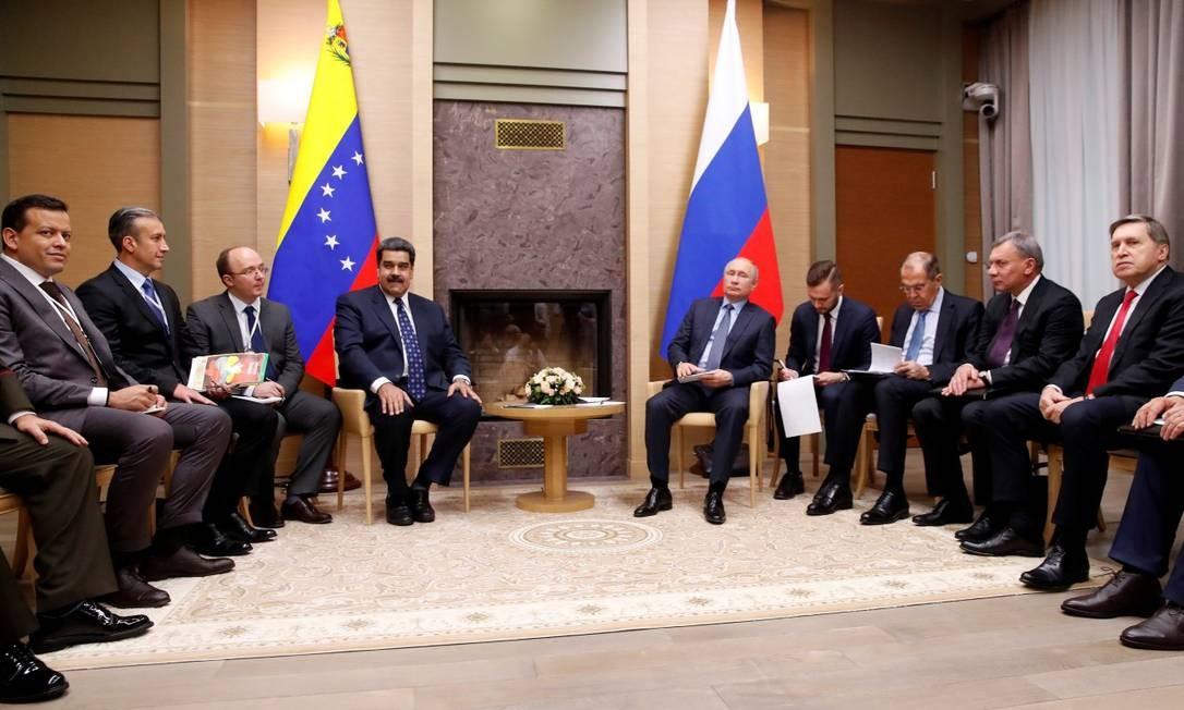 Encontro entre delegação da Venezuela e da Rússia em Moscou em dezembro de 2018 Foto: Maxim Shemetov / REUTERS 5-12-18