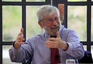 O professor, cientista político e economista Albert Fishlow faz palestra na Gávea 6-12-17 Foto: Uanderson Fernandes / Agência O Globo