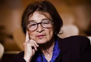 A filósofa Agnes Heller, sobrevivente do Holocausto, que morreu aos 90 anos Foto: Arquivo pessoal