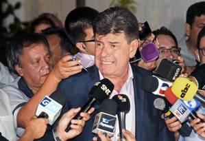 O l´dier do Partido Liberal do Paraguai, Efrain Alegre Foto: DANIEL DUARTE / AFP 22-4-19