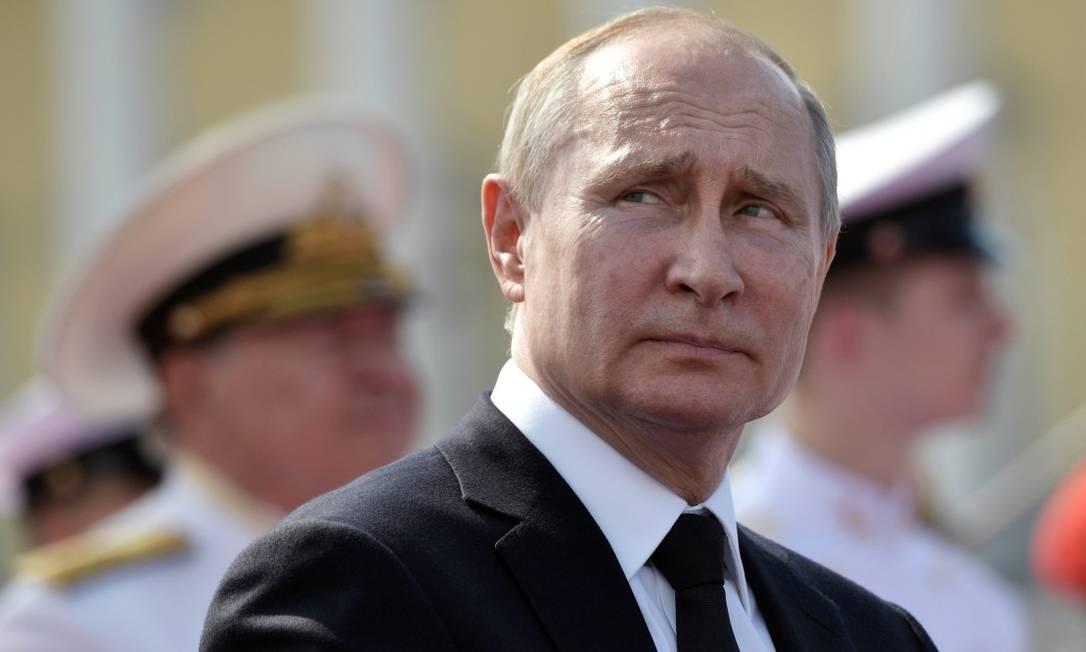 O presidente Vladimir Putin em São Petesburgo Foto: SPUTNIK / REUTERS 28-7-19