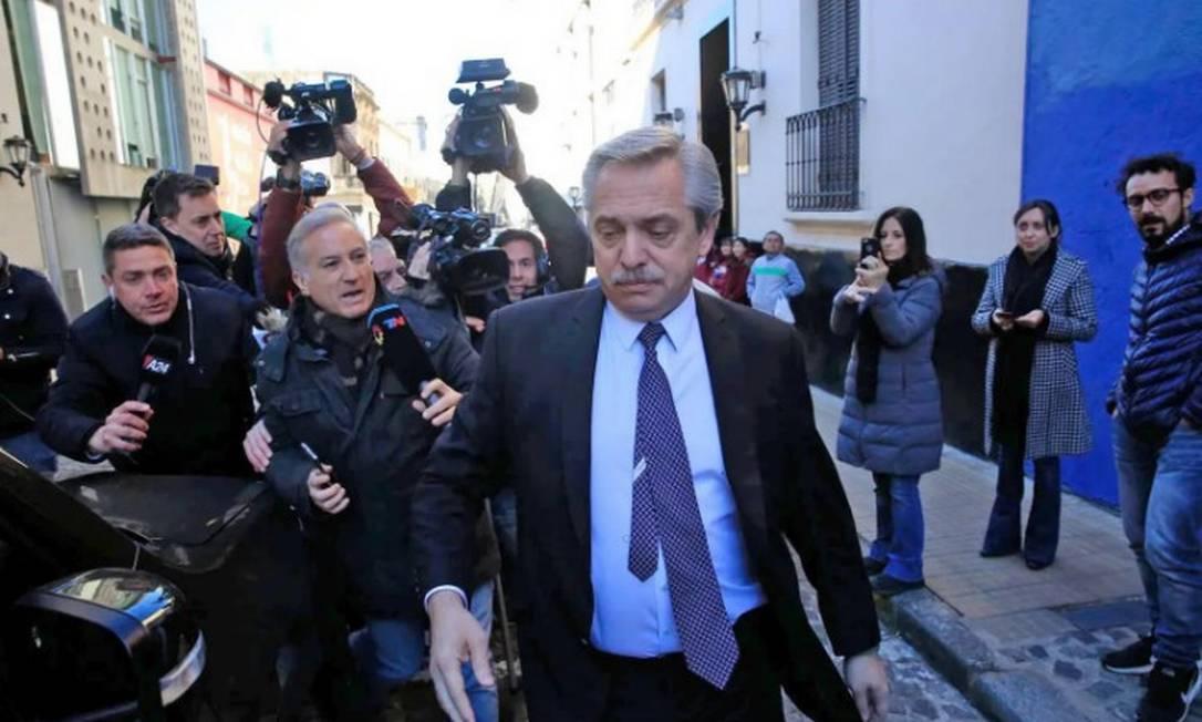 O candidato favorito à Presidência da Argentina Alberto Fernández Foto: La Nación