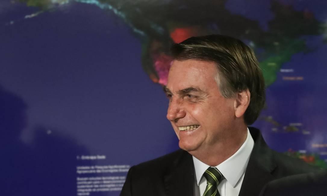 O presidente Jair Bolsonaro deve conversar com a chanceler às 15h de sexta-feira Foto: Marcos Correa / Agência O Globo 27-8-19