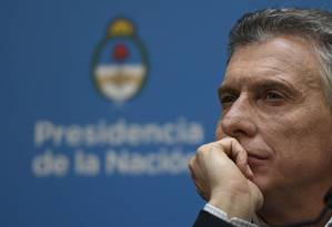 O presidente da Argentina Mauricio Macri Foto: JUAN MABROMATA / AFP