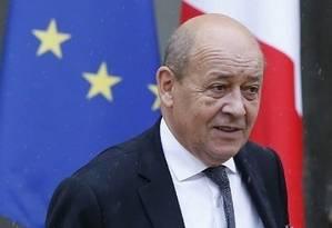 O chanceler da França, Jean-Yves Le Drian Foto: Patrick Kovarik / AFP 16-10-2015