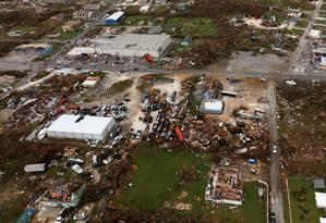 Imagem aérea das Bahamas. Foto: LPHOTO PAUL HALLIWELL / AFP